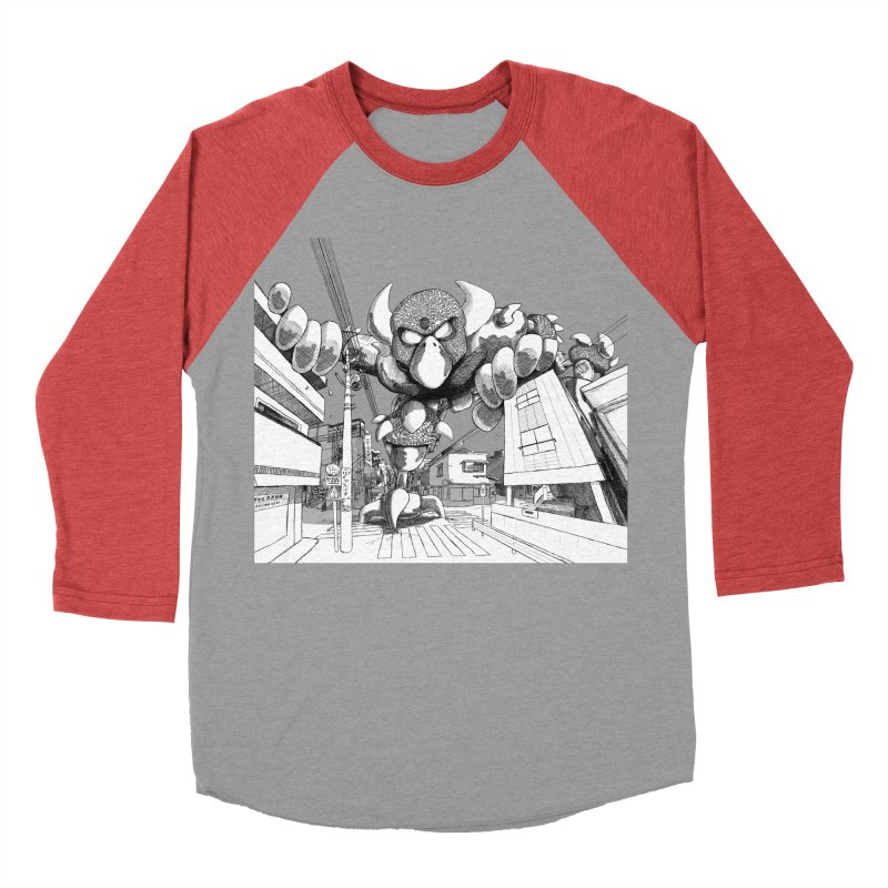 Kaiju Men's Baseball Triblend Longsleeve T-Shirt by upstartthunder's Artist Shop