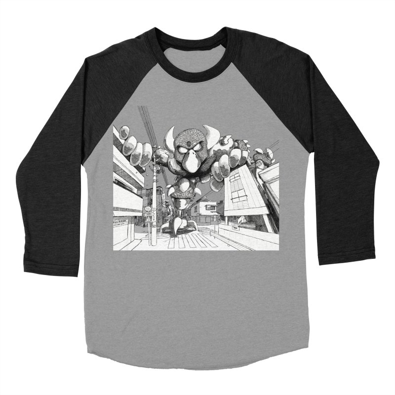 Kaiju Men's Baseball Triblend T-Shirt by upstartthunder's Artist Shop