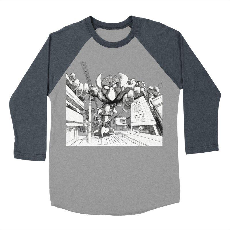 Kaiju Men's Baseball Triblend Longsleeve T-Shirt by upstartthunder's Artist Shop