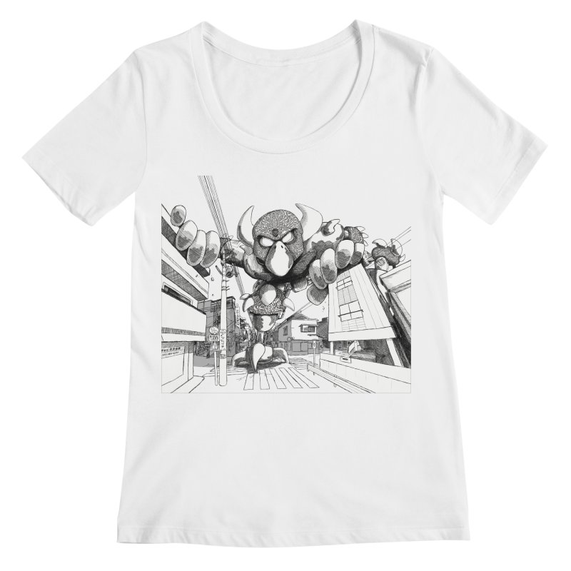 Kaiju Women's Regular Scoop Neck by upstartthunder's Artist Shop