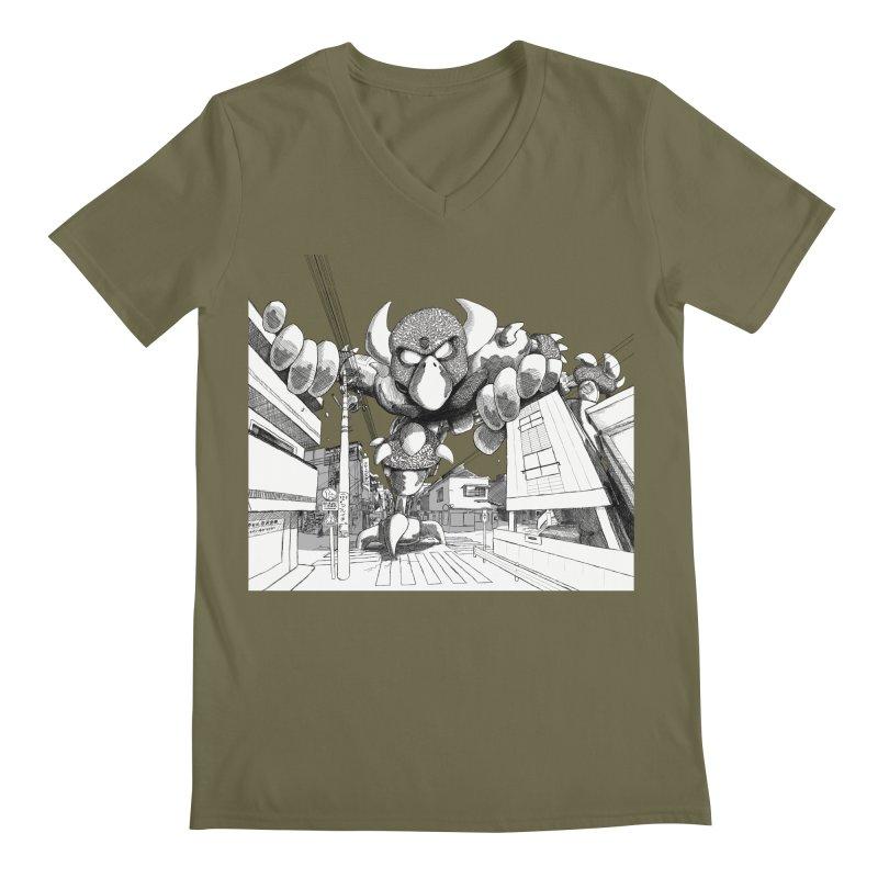 Kaiju Men's V-Neck by upstartthunder's Artist Shop