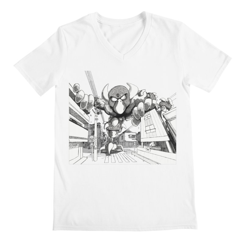 Kaiju Men's Regular V-Neck by upstartthunder's Artist Shop