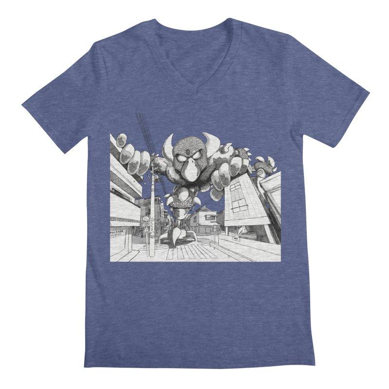 Kaiju Men's Regular V-Neck by upstartthunder's Artist Shop