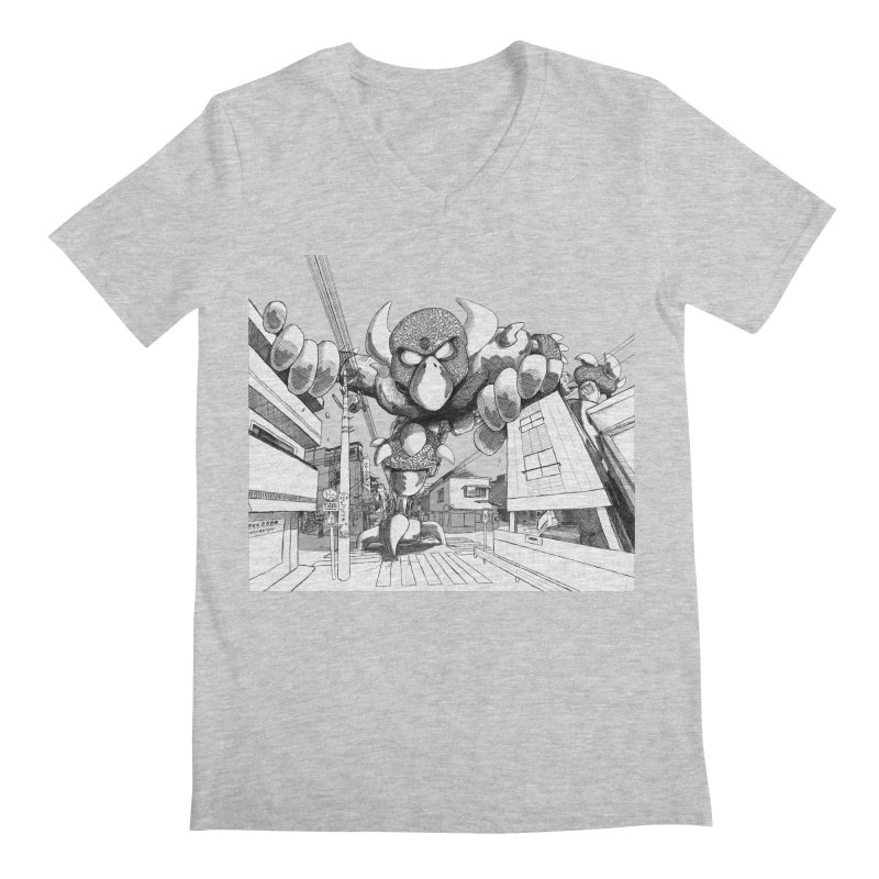 Kaiju Men's V-Neck by upstartthunder's Artist Shop