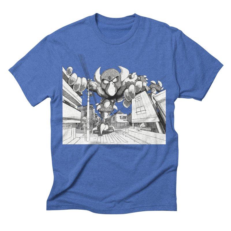 Kaiju Men's Triblend T-shirt by upstartthunder's Artist Shop