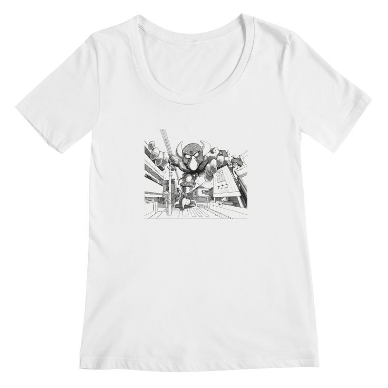 Kaiju Women's Scoopneck by upstartthunder's Artist Shop