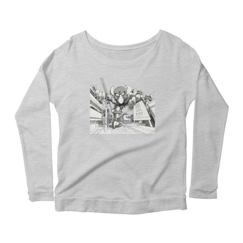 Kaiju Women's Scoop Neck Longsleeve T-Shirt by upstartthunder's Artist Shop