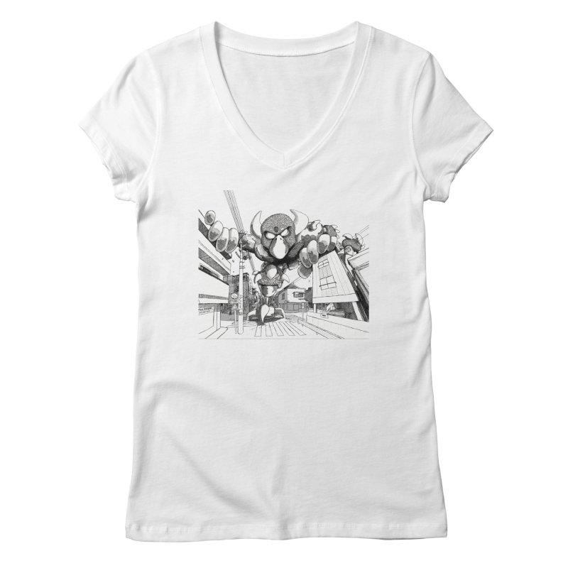 Kaiju Women's Regular V-Neck by upstartthunder's Artist Shop