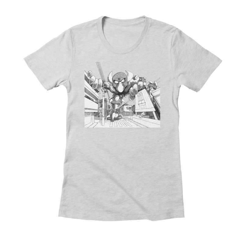 Kaiju Women's Fitted T-Shirt by upstartthunder's Artist Shop