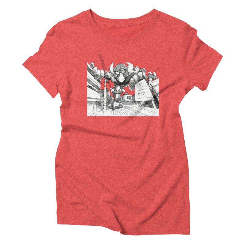 Kaiju Women's Triblend T-Shirt by upstartthunder's Artist Shop