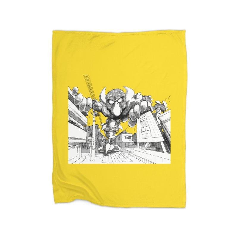 Kaiju Home Fleece Blanket Blanket by upstartthunder's Artist Shop