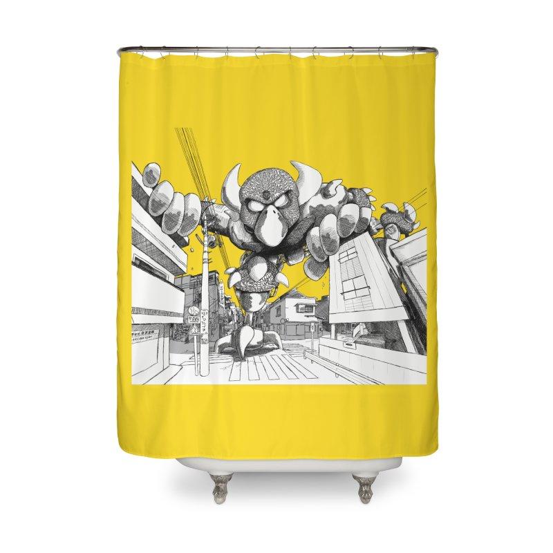 Kaiju Home Shower Curtain by upstartthunder's Artist Shop