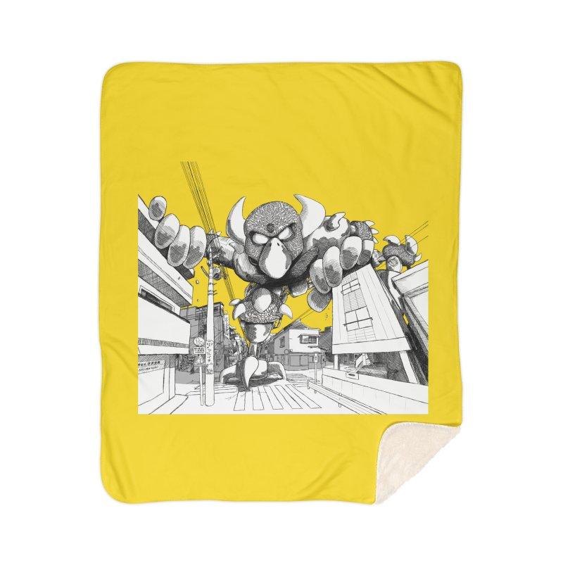 Kaiju Home Sherpa Blanket Blanket by upstartthunder's Artist Shop