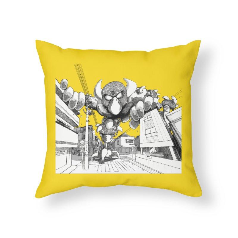 Kaiju Home Throw Pillow by upstartthunder's Artist Shop