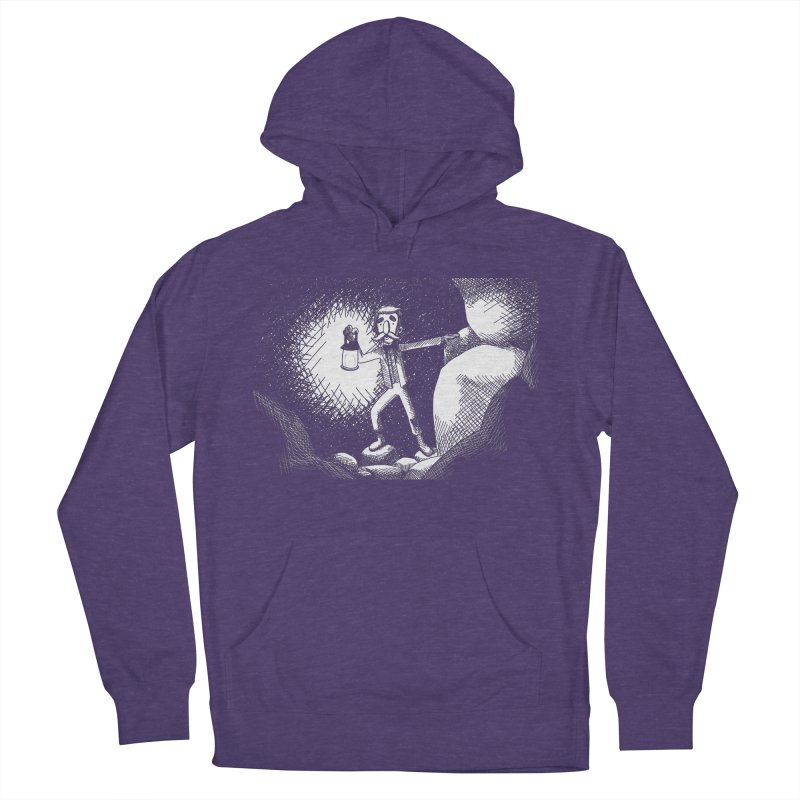 Adventuring Men's French Terry Pullover Hoody by upstartthunder's Artist Shop