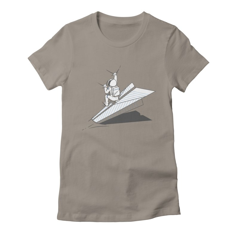 Landing on you Women's Fitted T-Shirt by uptme's Artist Shop