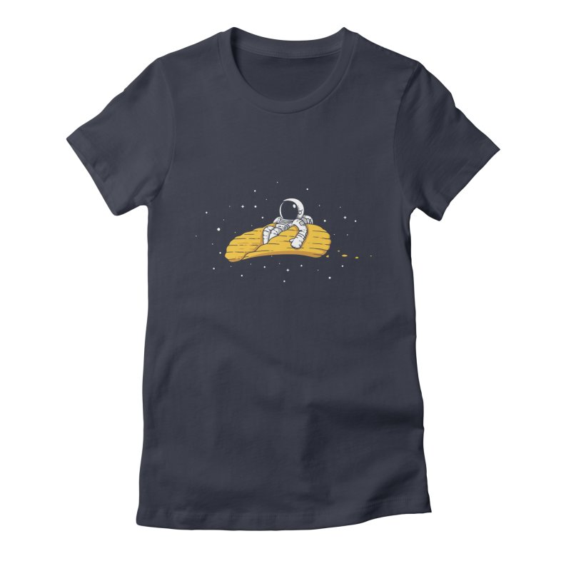 Spacechip Women's Fitted T-Shirt by uptme's Artist Shop