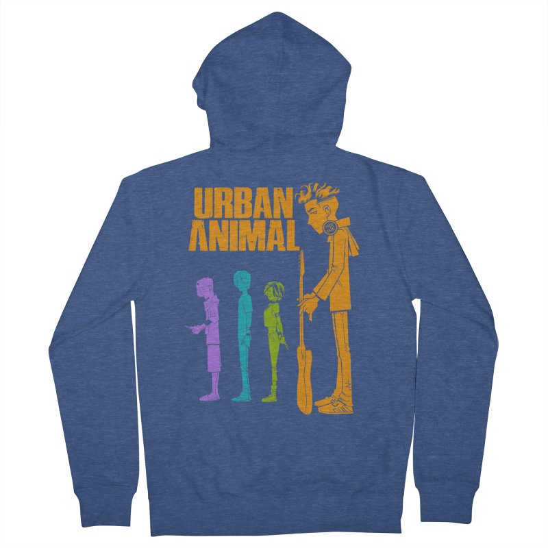 Baby Heist (Gorillaz Tribute) Men's Zip-Up Hoody by Urban Animal Store