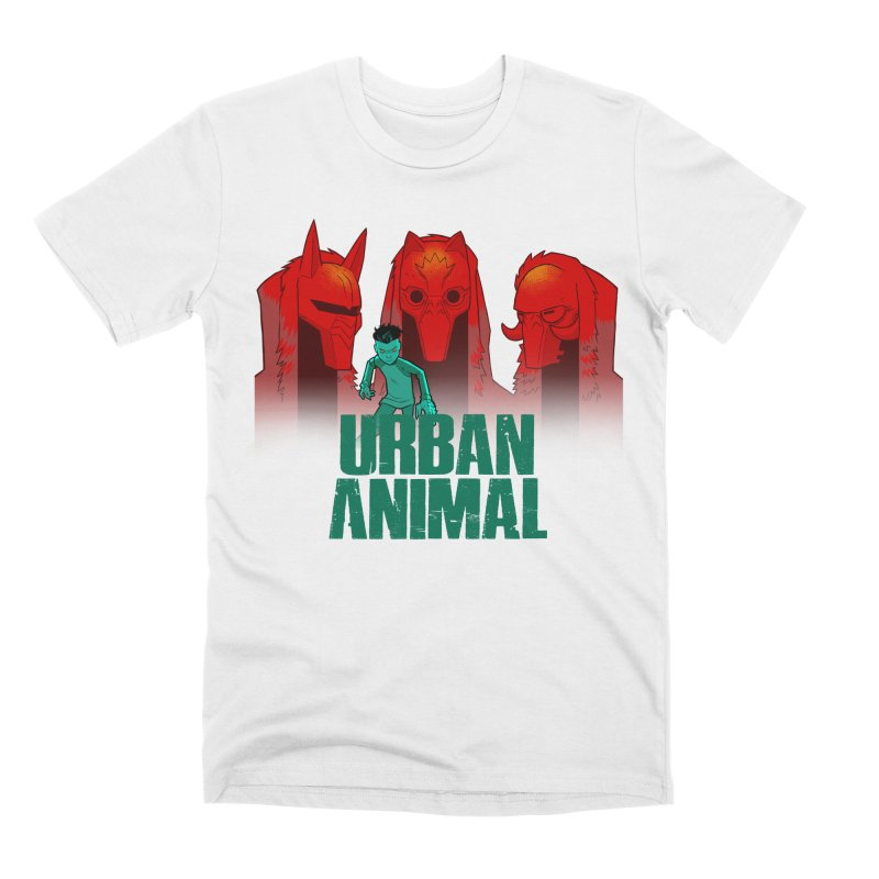 White Wolves - Hunter's Moon Men's T-Shirt by Urban Animal Store