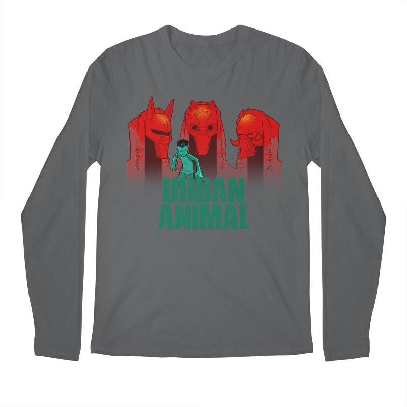 White Wolves - Hunter's Moon Men's Longsleeve T-Shirt by Urban Animal Store
