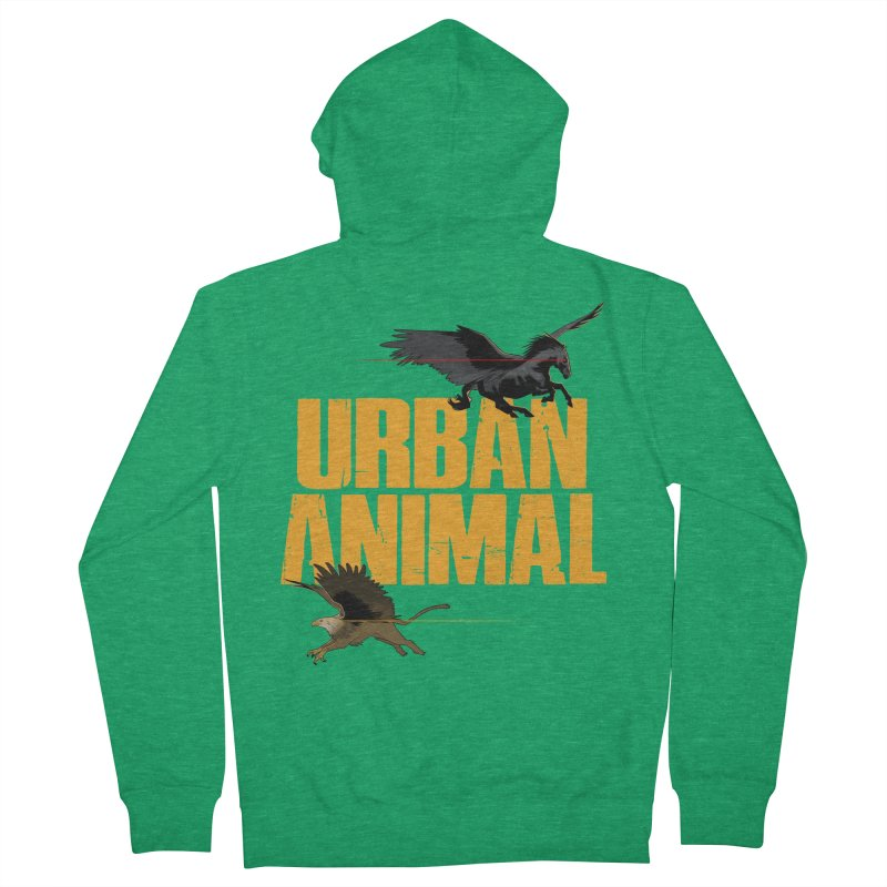 Winged Ones Men's Zip-Up Hoody by Urban Animal Store