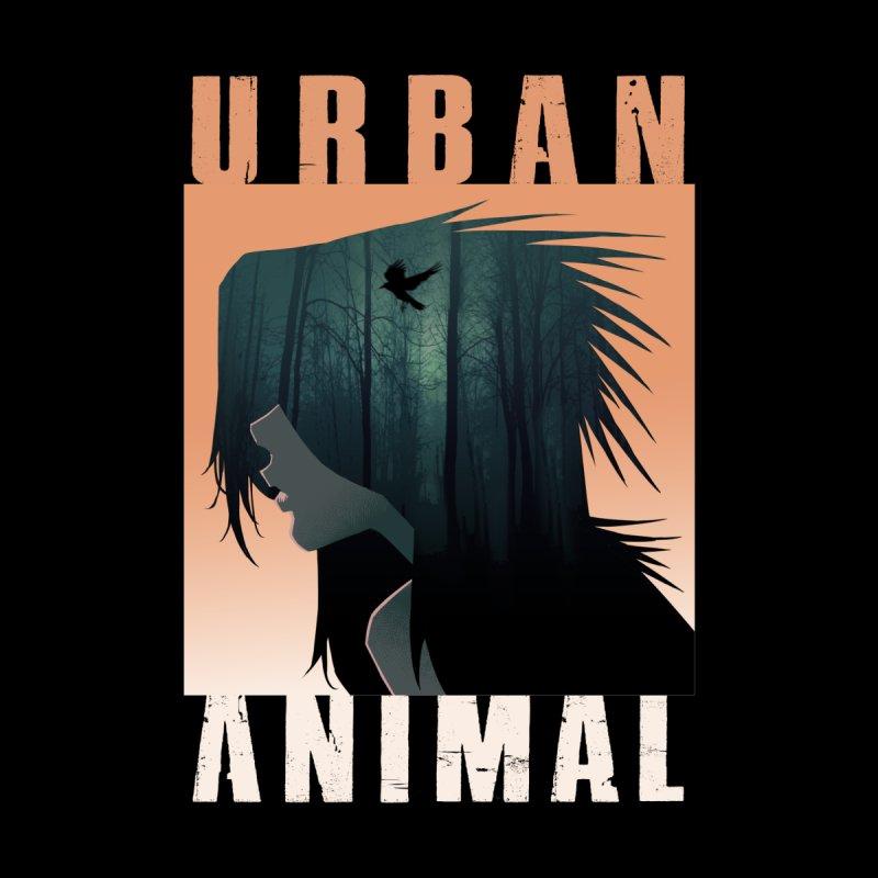 Black Bird Men's Zip-Up Hoody by Urban Animal Store