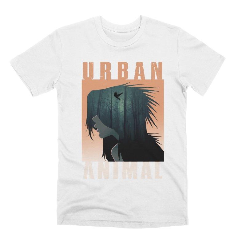 Black Bird Men's T-Shirt by Urban Animal Store