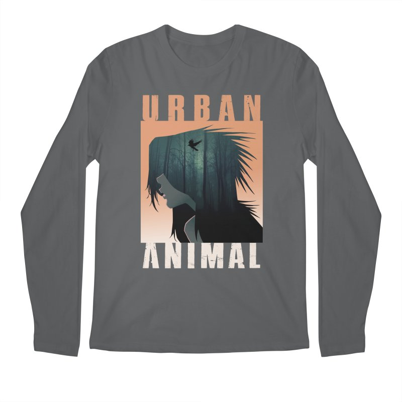Black Bird Men's Longsleeve T-Shirt by Urban Animal Store