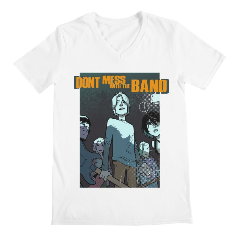 Don't Mess with the Band Men's V-Neck by Urban Animal Store