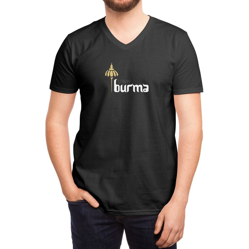 URBAN BURMA Men's V-Neck by urbanburma's Artist Shop