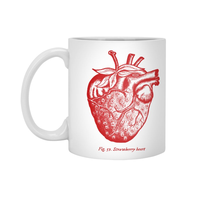 Strawberry Heart Red Accessories Accessories Mug by Urban Prey's Artist Shop
