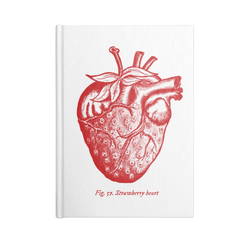 Strawberry Heart Red Accessories Accessories Lined Journal Notebook by Urban Prey's Artist Shop