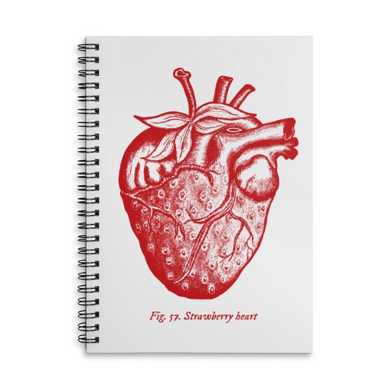 Strawberry Heart Red Accessories Accessories Notebook by Urban Prey's Artist Shop