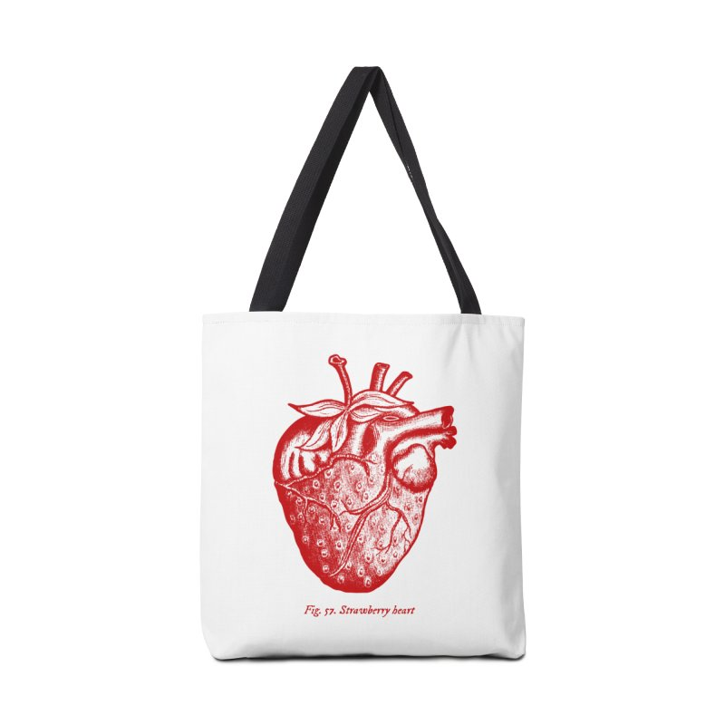 Strawberry Heart Red Accessories Accessories Tote Bag Bag by Urban Prey's Artist Shop