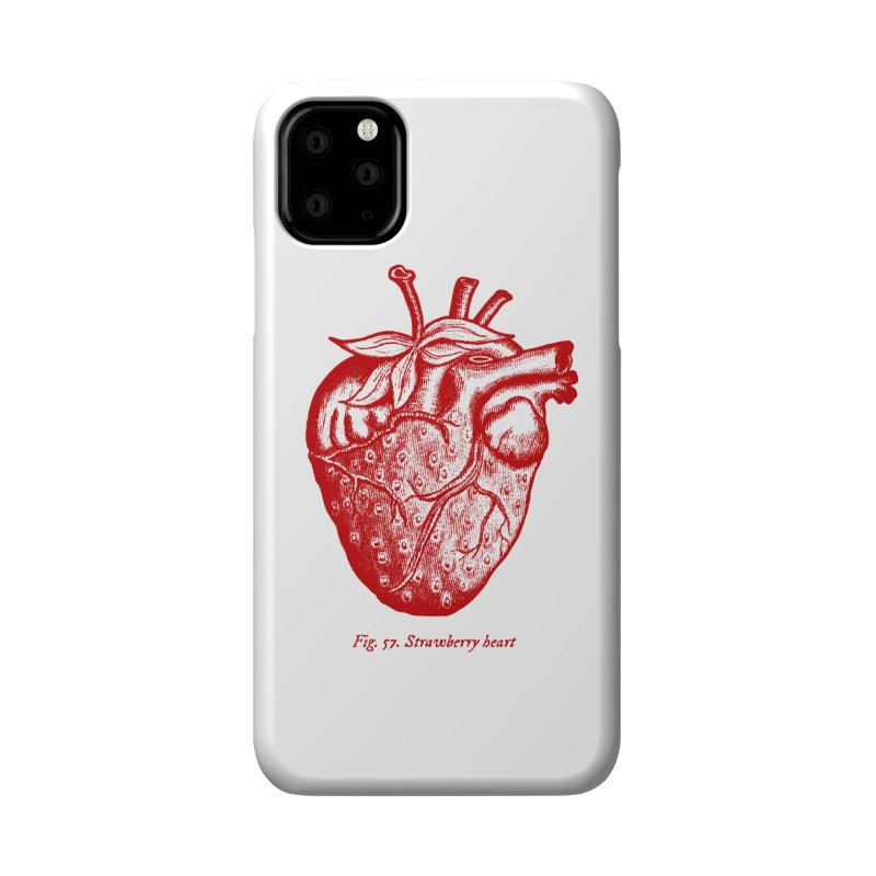 Strawberry Heart Red Accessories Accessories Phone Case by Urban Prey's Artist Shop