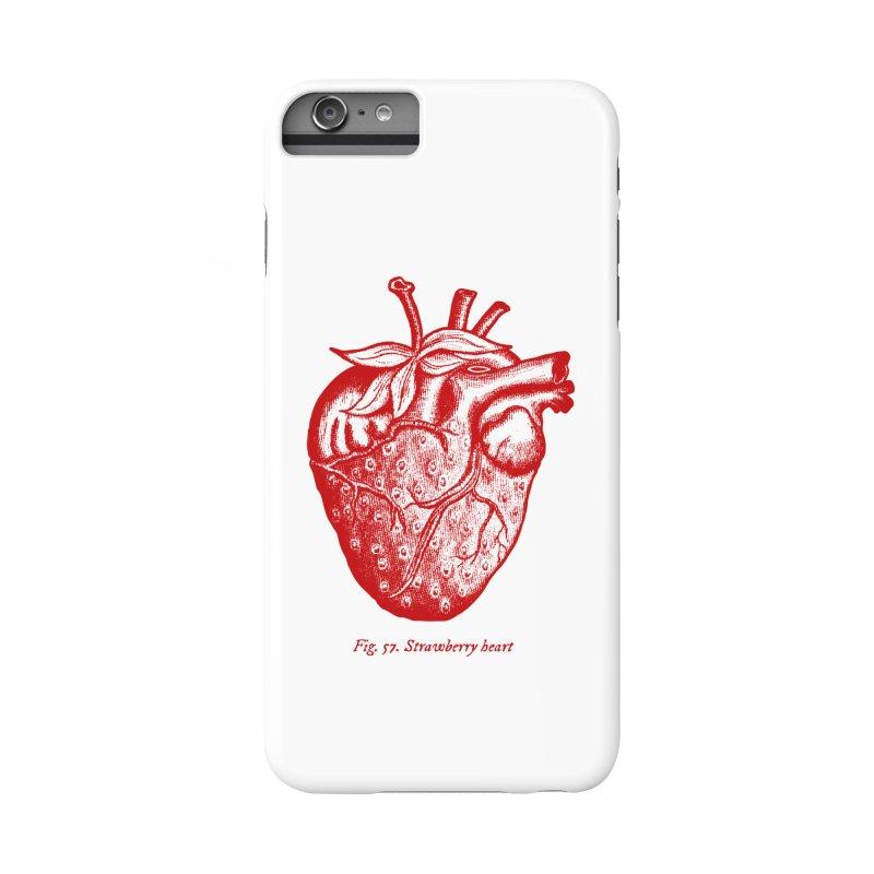 Strawberry Heart Red Accessories Accessories Phone Case by Urban Prey's Artist Shop