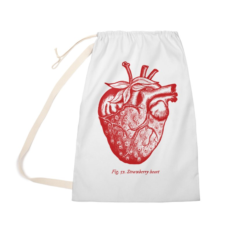 Strawberry Heart Red Accessories Accessories Bag by Urban Prey's Artist Shop