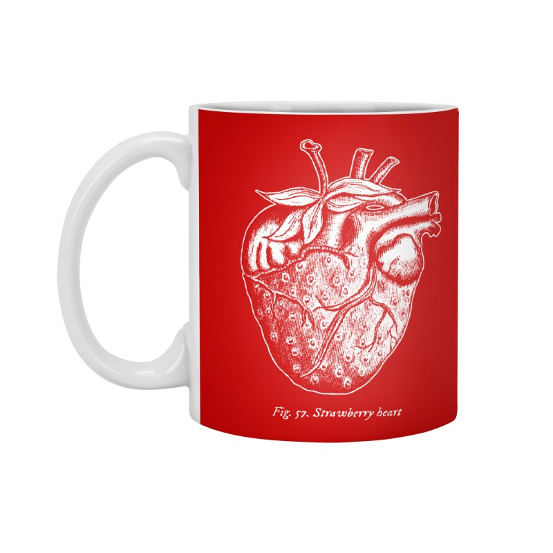 Strawberry Heart White Accessories Accessories Standard Mug by Urban Prey's Artist Shop