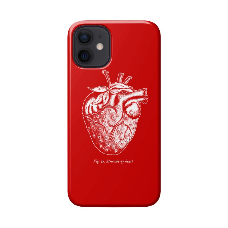Strawberry Heart White Accessories Accessories Phone Case by Urban Prey's Artist Shop