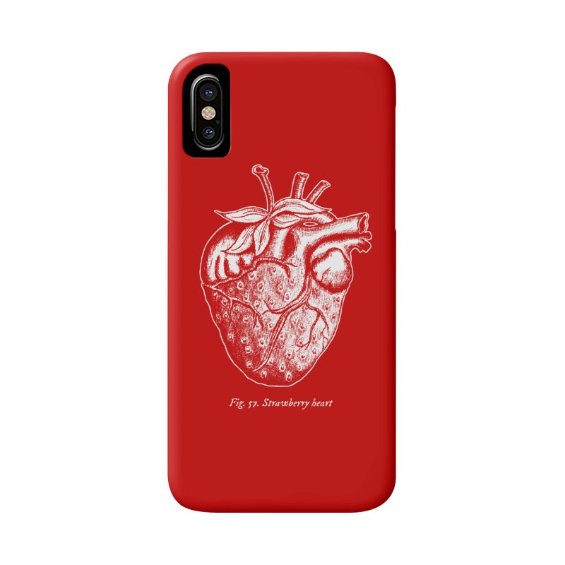 Strawberry Heart White Accessories Accessories Phone Case by Urban Prey's Artist Shop