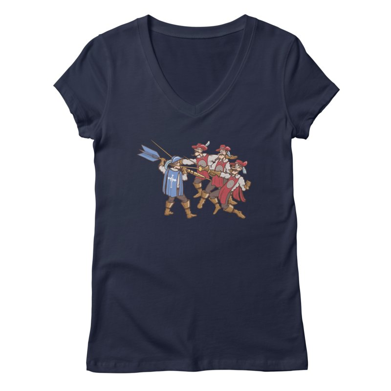 DartAgnan Women's V-Neck by Urban Prey's Artist Shop