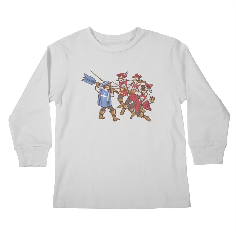 DartAgnan Kids Longsleeve T-Shirt by Urban Prey's Artist Shop