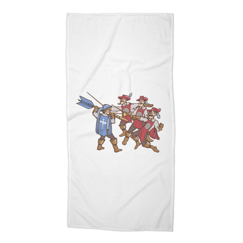 DartAgnan Accessories Beach Towel by Urban Prey's Artist Shop
