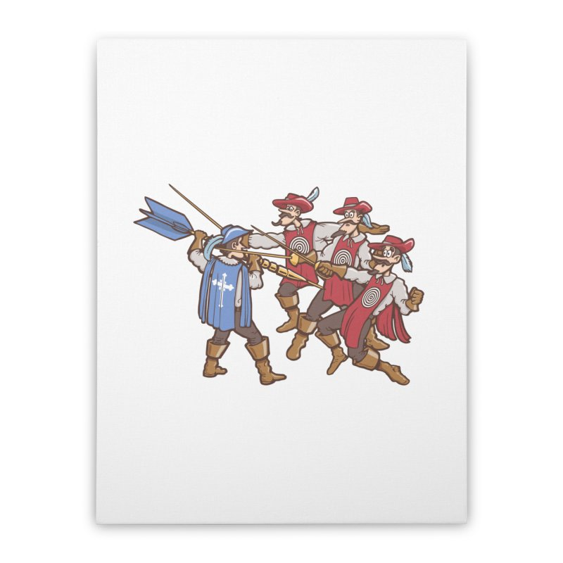 DartAgnan Home Stretched Canvas by Urban Prey's Artist Shop