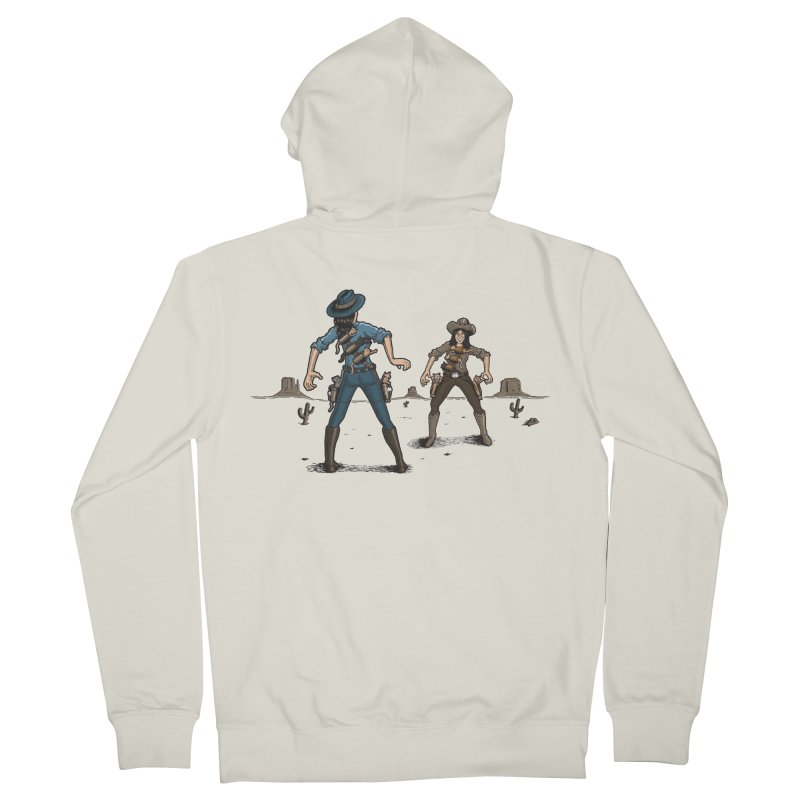 Catfight Women's French Terry Zip-Up Hoody by Urban Prey's Artist Shop