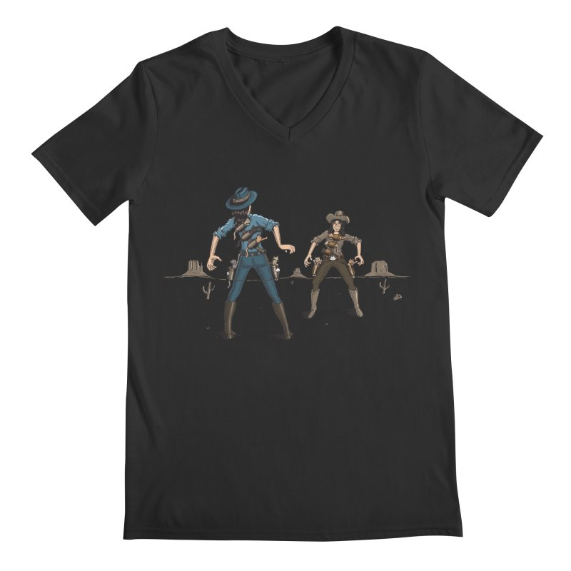 Catfight Men's Regular V-Neck by Urban Prey's Artist Shop