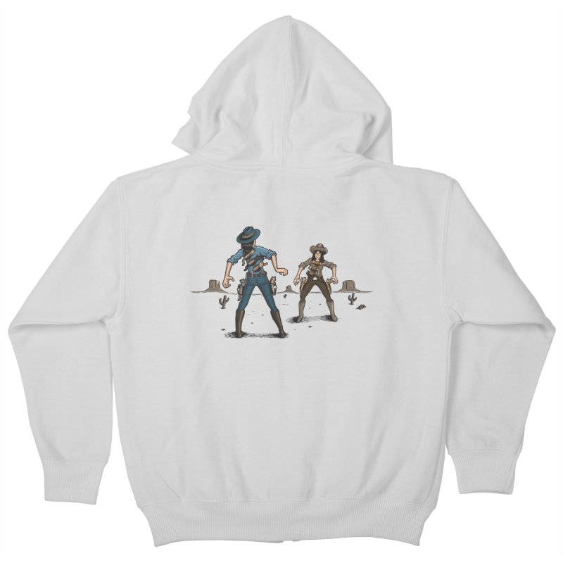Catfight Kids Zip-Up Hoody by Urban Prey's Artist Shop