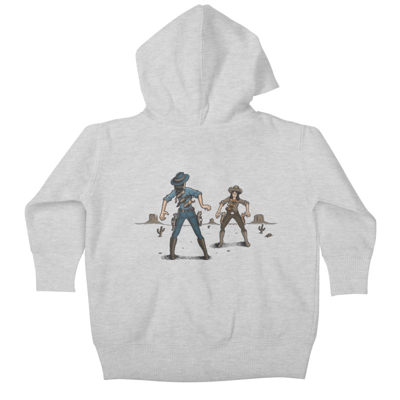 Catfight Kids Baby Zip-Up Hoody by Urban Prey's Artist Shop