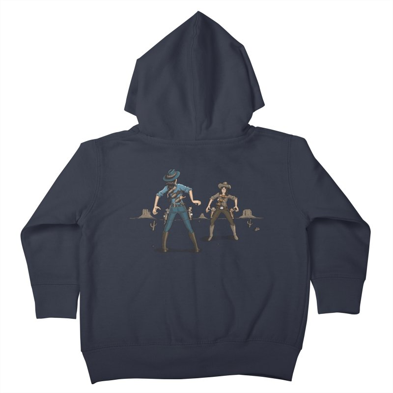 Catfight Kids Toddler Zip-Up Hoody by Urban Prey's Artist Shop