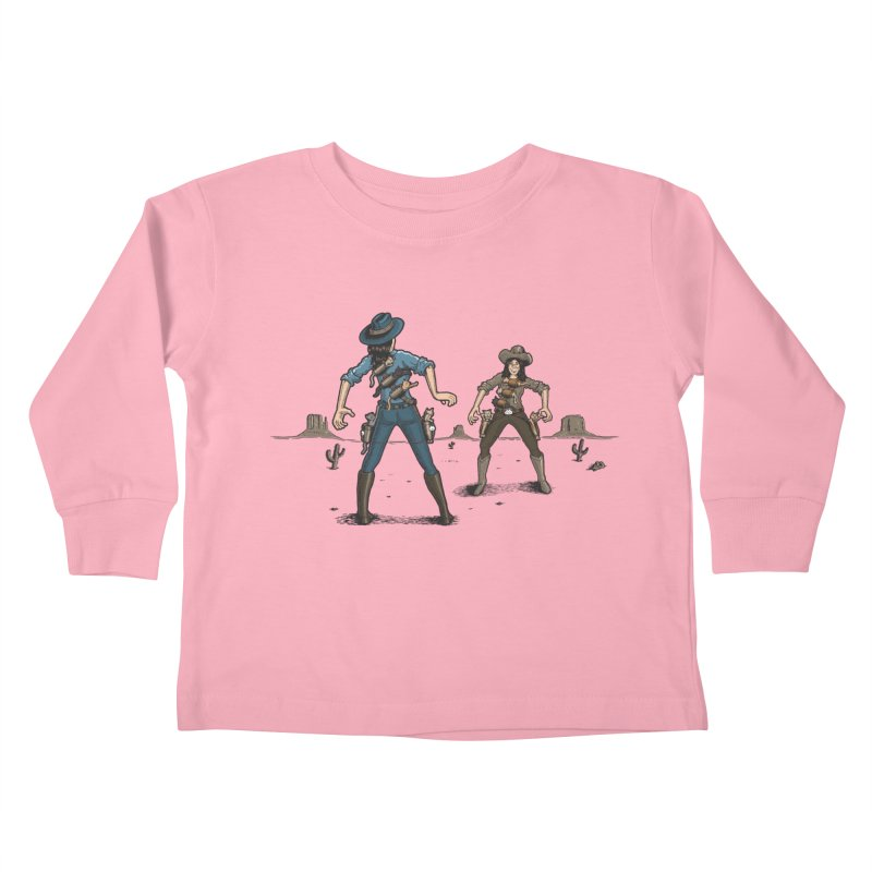Catfight Kids Toddler Longsleeve T-Shirt by Urban Prey's Artist Shop